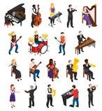 Люди музыкантов равновеликие бесплатная иллюстрация