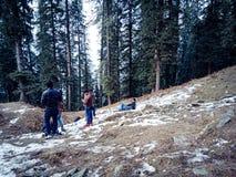 Люди наслаждаясь в снежностях Стоковые Фотографии RF