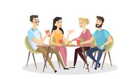 Люди на кафе бесплатная иллюстрация