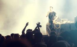 Люди на концерте Стоковые Изображения RF