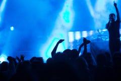Люди на концерте Стоковые Изображения