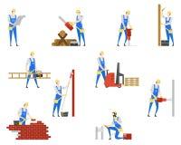 Люди на профессиях построителя Работа и работа бесплатная иллюстрация