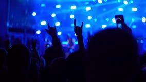 Люди на рок-концерте сток-видео