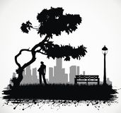 люди парка Стоковые Фотографии RF
