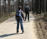 люди парка Стоковая Фотография