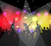 люди партии танцы предпосылки Стоковые Фотографии RF
