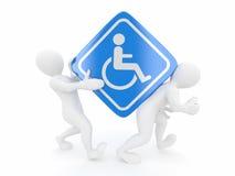 люди подписывают кресло-коляску 2 иллюстрация штока