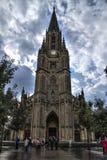 Люди посещая хороший собор чабана San Sebastian Стоковые Фотографии RF