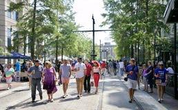 Люди присутствуют на фестивале музыки и наследия Мемфиса Стоковое фото RF
