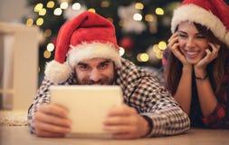 Люди рождества празднуя праздник Стоковое фото RF