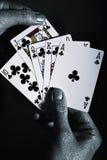 люди рук карточек metal играть s стоковые фото