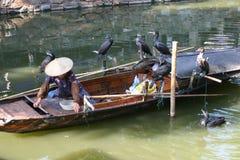 люди рыболовства фарфора Стоковые Фото