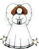 люди свечки искусства ангела Стоковое Изображение