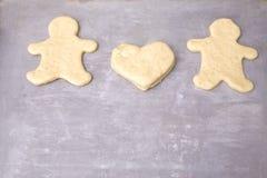 люди сердца gingerbread Стоковое Изображение