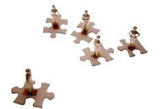 люди соединяют головоломку малую Стоковое Изображение
