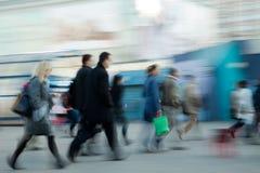 люди спешя для работы Стоковое Изображение