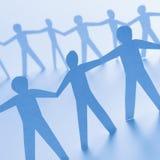 люди стоя совместно Стоковое Изображение RF