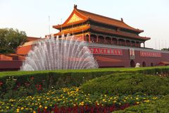 люди строба Пекин tian стоковое фото
