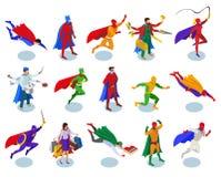 Люди супергероев равновеликие бесплатная иллюстрация