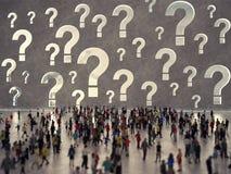 Люди с вопросами перевод 3d Стоковые Изображения RF