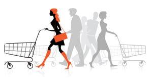 Люди с диаграммами покупкы бесплатная иллюстрация