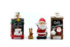 Люди с Рождеством Христовым и счастливого Нового Года миниатюрные: Дети w стоковые фото