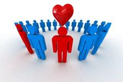 Люди с сердцем стоковая фотография rf