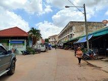 люди Таиланда местного рынка праздника esan стоковое изображение