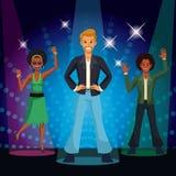Люди танцуя на диско бесплатная иллюстрация