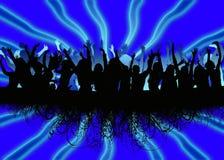 люди танцы предпосылки Стоковое Изображение