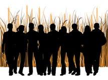 люди травы Стоковые Изображения RF