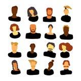 Люди установленные в черные одежды иллюстрация штока