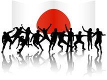 люди флага действия Стоковая Фотография