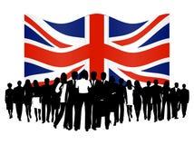 люди флага Стоковое Фото