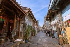 Люди шли вдоль улицы Shennong, датировка бульвара ориентира от династии Qing стоковая фотография rf