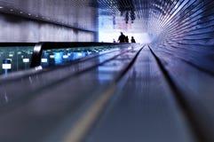 люди эскалатора Стоковая Фотография