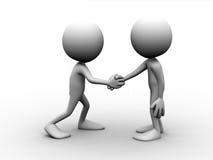 люди 2 рукопожатия бесплатная иллюстрация