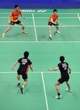 люди 2011 двойников чемпионатов badminton Азии s Стоковые Фото
