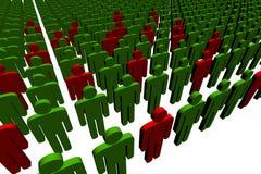 люди 3d стоковое изображение