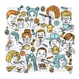 Люди eat_5 стоковое изображение