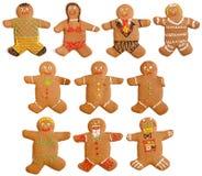люди gingerbread домодельные Стоковая Фотография RF