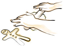 люди gingerbread Стоковые Фото