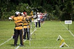 люди s archery действия Стоковая Фотография RF