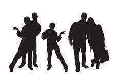 люди silhouettes детеныши бесплатная иллюстрация