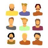 Люди vector комплект иллюстрация штока