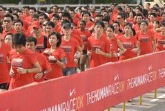 людские бегунки гонки Найк Стоковая Фотография