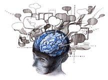 людские разумы иллюстрация вектора
