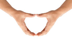 Людские руки формируя сердце стоковое изображение