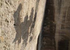 людские тени Стоковое фото RF