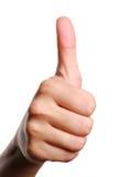 людской большой пец руки стоковое изображение rf